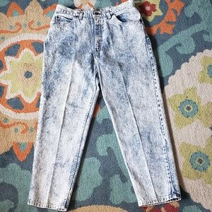 Acid washed Brittania jeans' vintage highwaisted